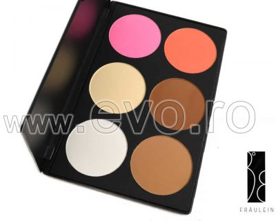 Trusa Blush & Pudra fata 6 culori Fraulein38 Natural Beauty