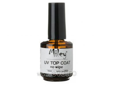 Top Coat UV Miley 14 ml - Fara degresare - No wipe