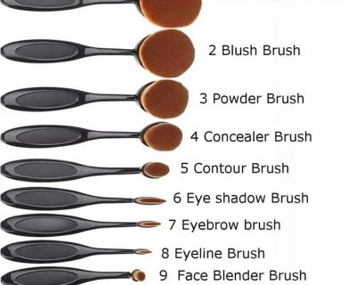 Set 10 Pensule Machiaj MASTERCLASS - Curve Brushes Beauty Make-up