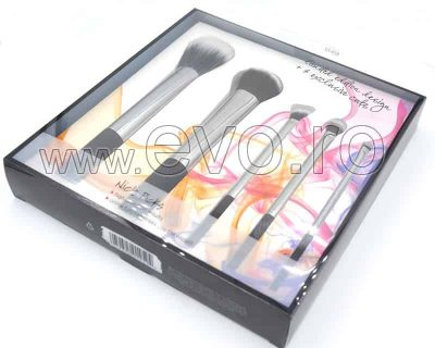 Set 5 Pensule Machiaj Profesionale Evo RT Silver Make-up