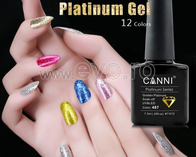 Oja Semipermananta Soak Off GLITTER-PLATINUM Canni 71012-481